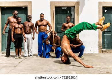 Group of people playing Capoeira