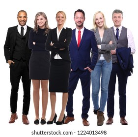 Group of people in a row