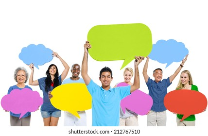 Group of People Sharing Ideas
