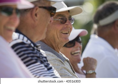 Group of people smiling together