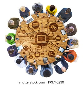 Group of People and Social Media Concept