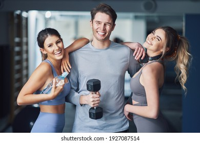 Group of people working out in a gym
