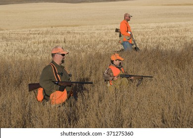A group of pheasant hunters
