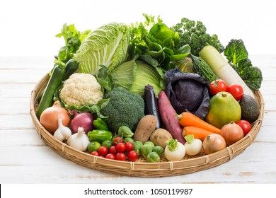 A group photo of fresh and safe vegetables