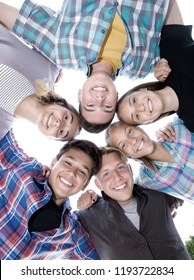 Group portrait of young  teenagers