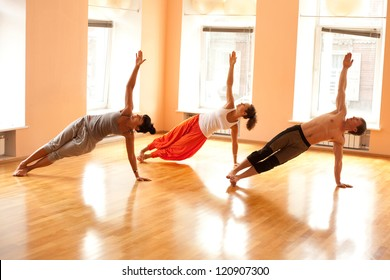 Group practicing yoga