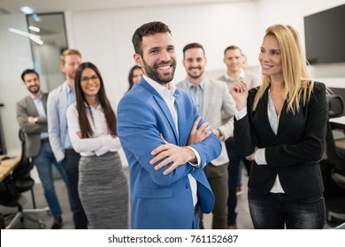 Group of professional successful business people