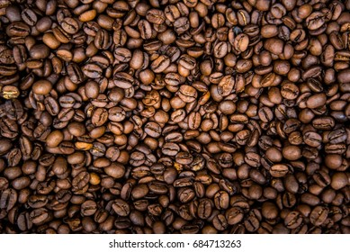 Group of roasted Coffee Bean