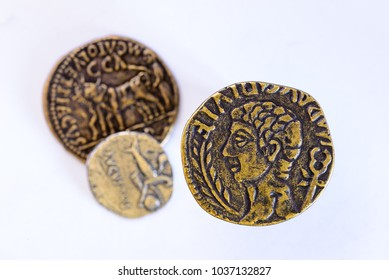 A group of Roman coins