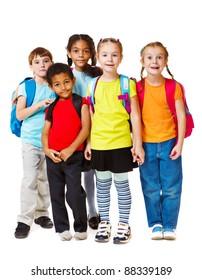 Group of school aged and preschool kids