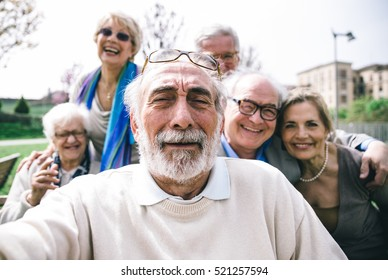 Group of senior looking in camera for a portrait