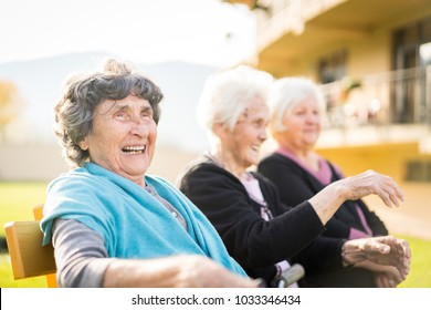 Group of senior women together in nature