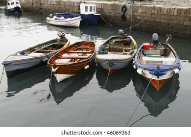 Group of small fishing boats