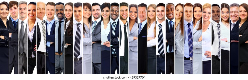 Group of smiling business people.