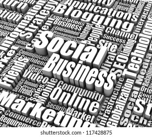 Group of Social Business related words. Part of a business concept series.