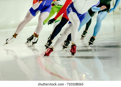 group speed skaters women athletes at distances speed skating