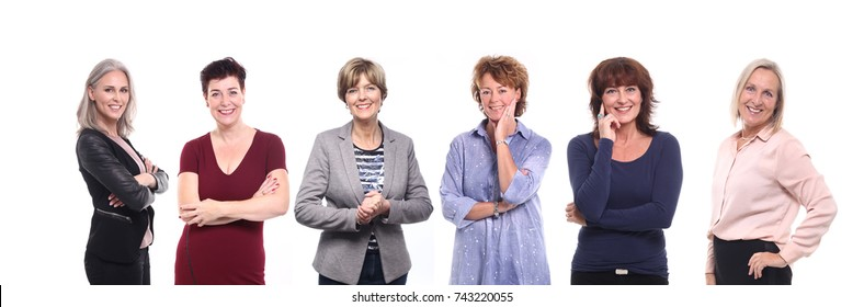Group of strong Mature woman