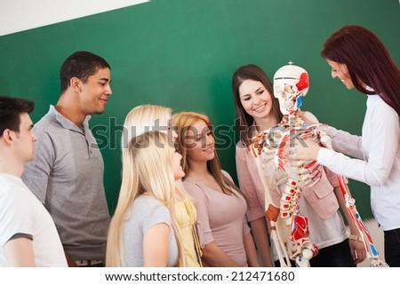 Group Students Anatomy Class Their Teacher Stock Photo (Edit Now ...