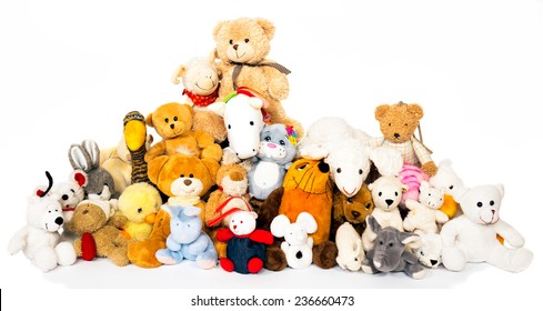 Group of stuffed animals