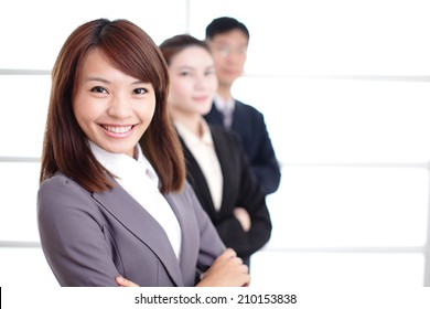 Group of success business people team in office, asian