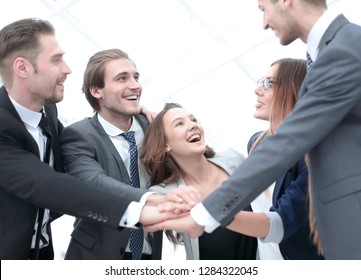 a group of successful businessman