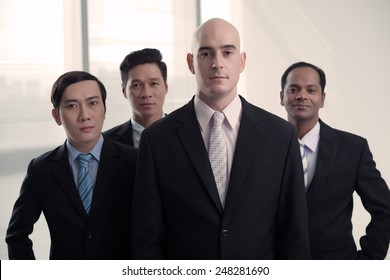 Group of successful businessmen