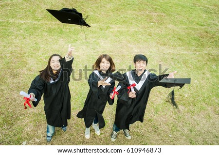 92db0d754d7 Group Successful Students On Their Graduation Stock Photo (Edit Now ...