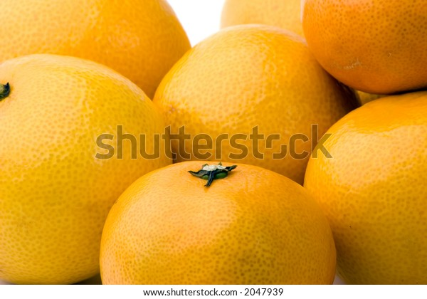 A group of tangerines and satsumas