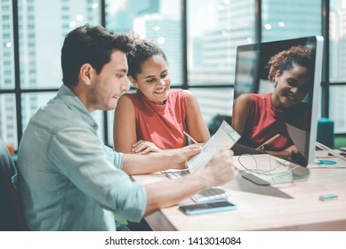 Group of Team Business Working Space Environment Corporate. Business People Meeting and Training in Corporate. The Success Business Marketing. Business Training Marketing.