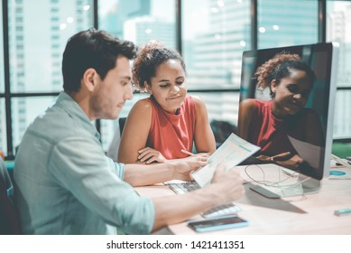 Group of team creative Business People Planning Marketing Strategy Analysis Office. Business People Meeting and Training in Corporate. The Success Business Marketing. Business Training Marketing.