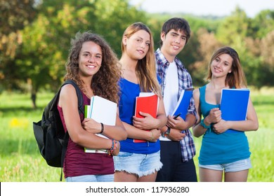 Group of Teenage Students at Park