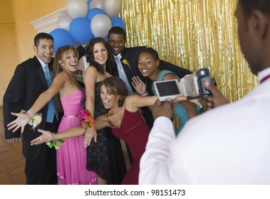 Group of Teenagers getting ready for Prom