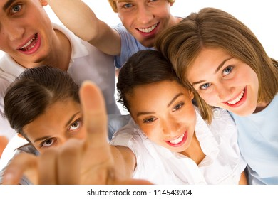 group of teenagers looking at camera