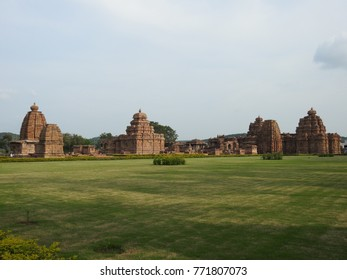 Group of temples at Pattadakal Temple Complex, an UNESCO World Heritage Site located in Karnataka, India. These were built in 7th and 8th century CE.
