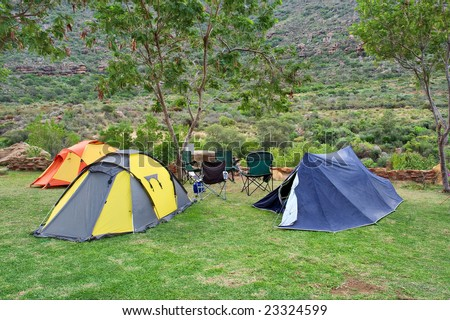 Shutterstock & Group Tents Camping Site Shot Gifberg Stock Photo (Edit Now ...