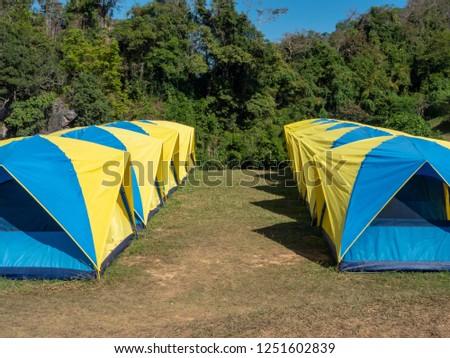 Shutterstock & Group Tents Campingservice Tourist Sri Nan National Stock Photo ...