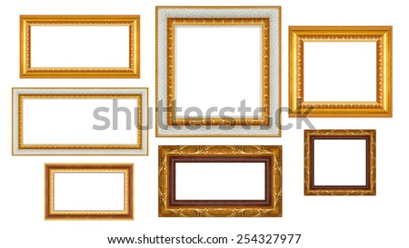 Group Thai Art Wood Frame Isolated Stock Photo (Edit Now) 254327977 ...