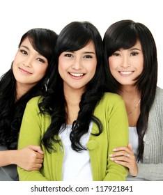 group of three girl best friend