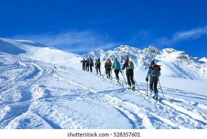 Group of touring skiers