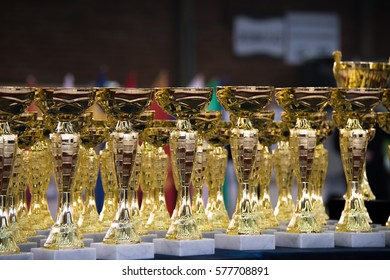 Group of the trophies