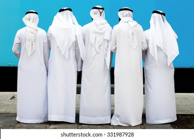 group of unknown arab people