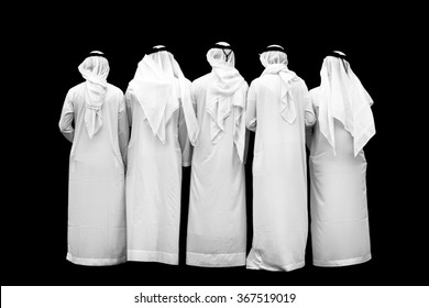 group of unknown arab persons