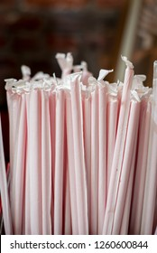 Group of Unopened Straws