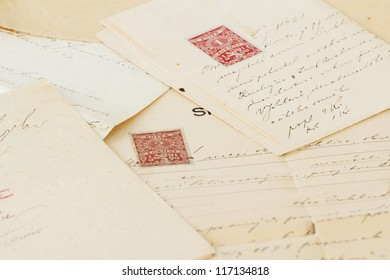 group of very old handwritten text agreements or contract