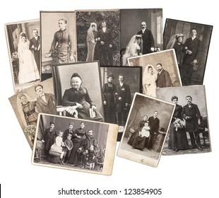一组复古家庭和婚礼照片大约 1885-1920 年?;尘筛星橥计刺诎咨尘? data-automation=