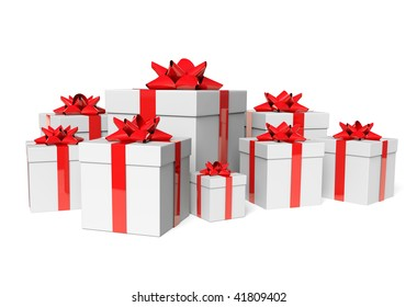 Group white gifts
