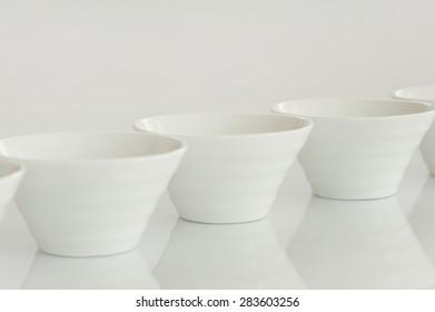 Group of white pott
