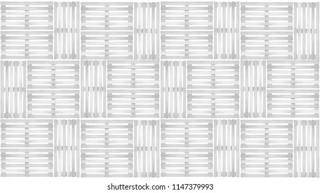 Group Of White Wood Pallet Pattern On Background In Top View