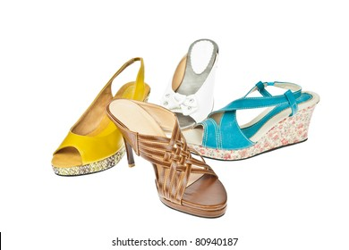 Group of  Woman's shoes