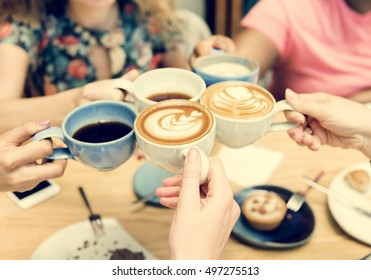 Group Of Women Drinking Coffee Concept